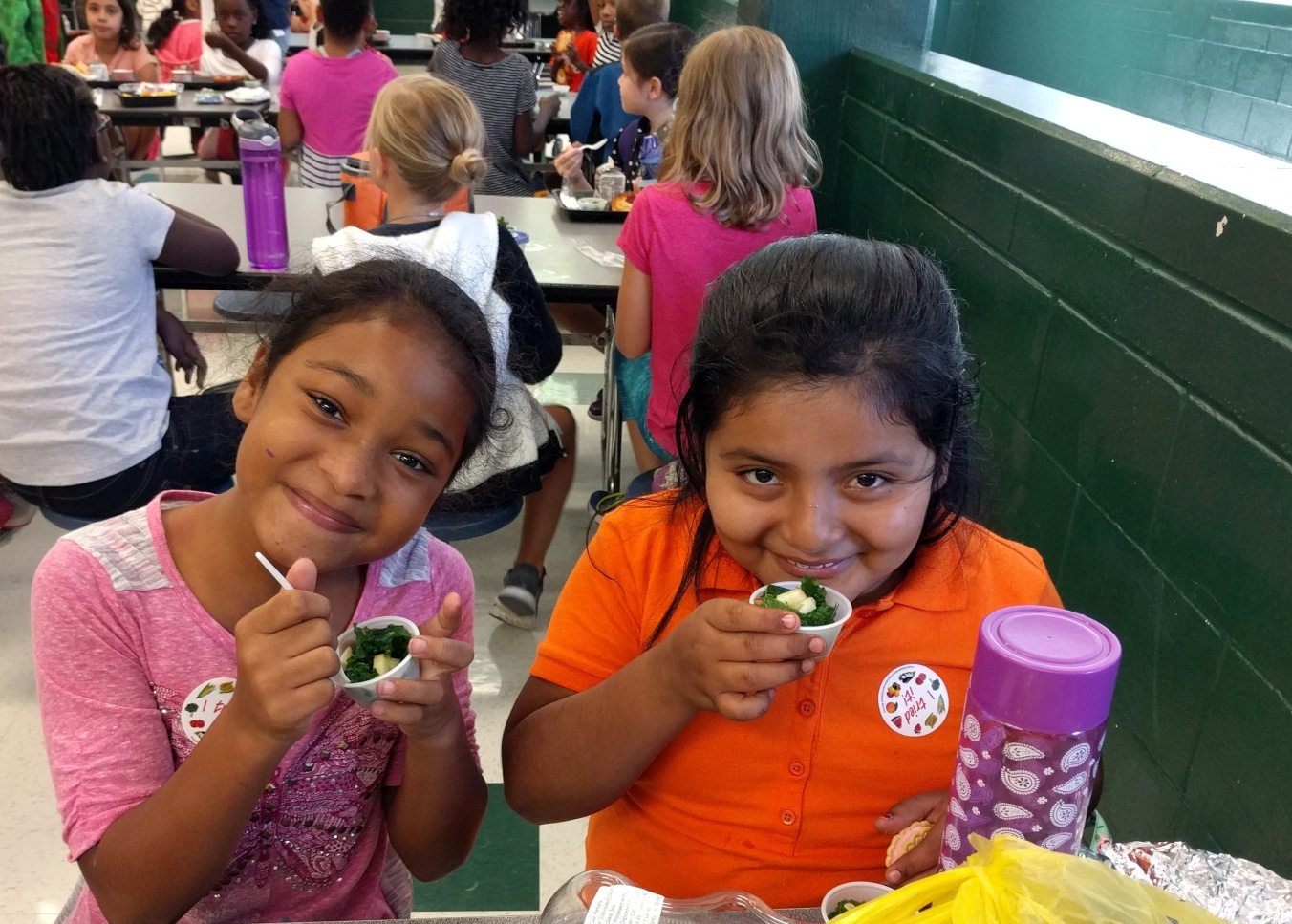 These Westwood Whirlwinds liked the kale salad!