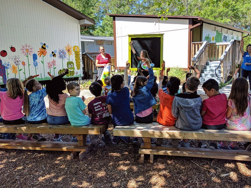 Students learn at the Farm to School to Work Hub