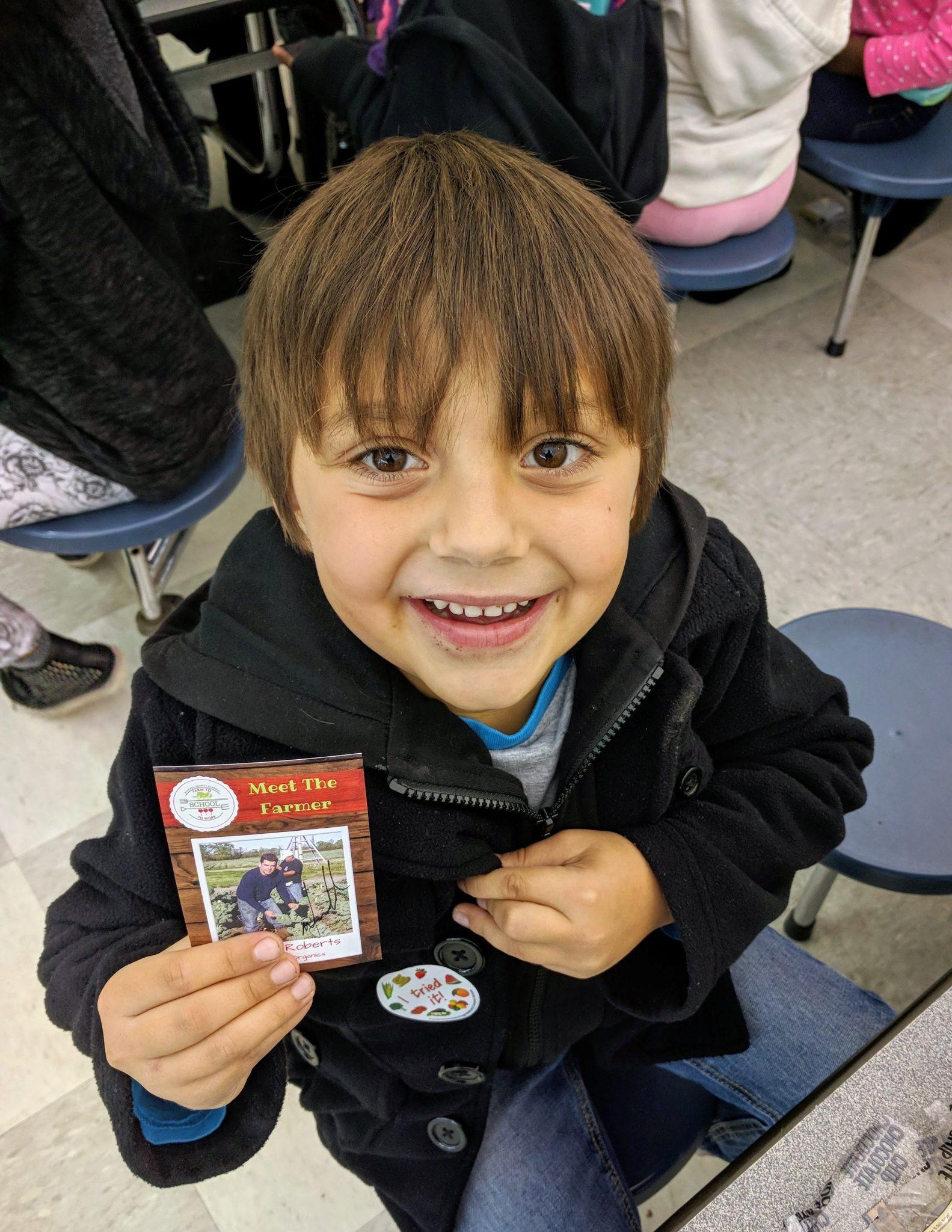 Farmer Nando visits Foster Elementary